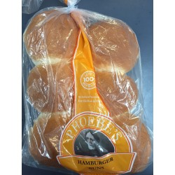 HAMBURGER WHITE BREAD ROLLS 6PK 540GM