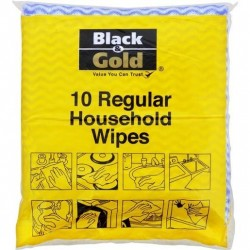 REGULAR HOUSEHOLD WIPES 6CM X 3CM 10S
