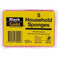 HOUSEHOLD SPONGES 5 PACK