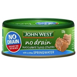 NO DRAIN TUNA IN SPRING WATER 130GM