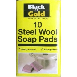 STEEL WOOL SOAP PADS 10S