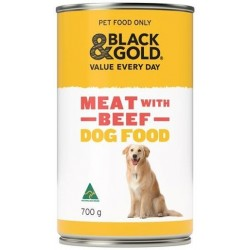BLACK & GOLD DOG FOOD MEAT WITH BEEF 700GM