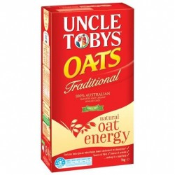 UNCLE TOBYS TRADITIONAL OATS 1KG