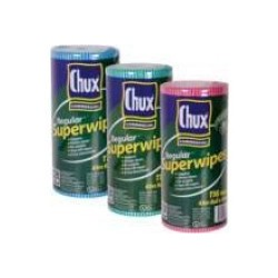 CHUX SUPERWIPES ECONOMY ROLL RED 30CM X 65CM 116S