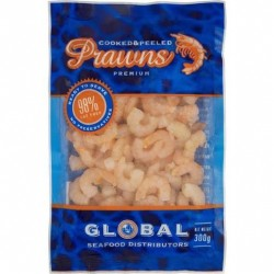 COOKED AND PEELED PRAWNS 300GM
