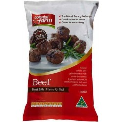 MEATBALLS FLAMEGRILLED BAG 1KG