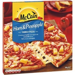 HAM AND PINEAPPLE PIZZA 500GM