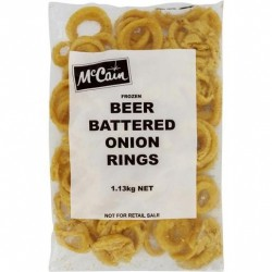BEER BATTERED ONION RINGS 1.13KG