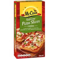 SUPREME PIZZA SLICES 600GM