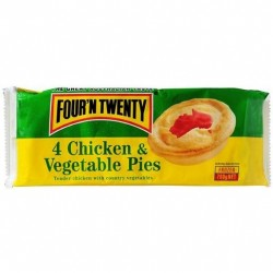 CHICKEN AND VEGETABLE PIES 4PK 700GM