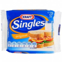 SLICED CHEESE SINGLES 12 SLICES 250GM