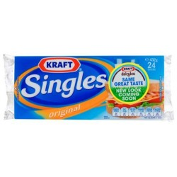 CHEDDER CHEESE SINGLES 432GM