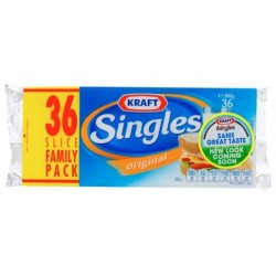 CHEDDER CHEESE SINGLES 648GM