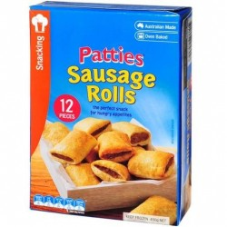 SAUSAGE ROLLS PARTY 12 PACK 450GM