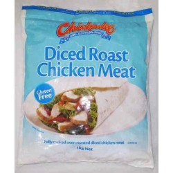 ROAST DICED CHICKEN MEAT FREE FLOW 1KG