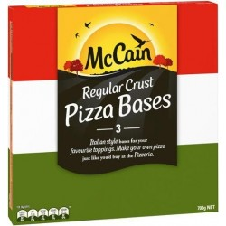 REGULAR CRUST PIZZA BASES 3PK