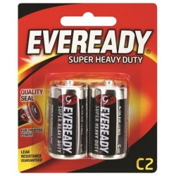 BLACK SUPER HEAVY DUTY C BATTERY 2PK
