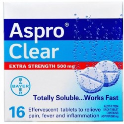 ASPRO CLEAR EXTRA STRENGTH 16S