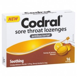 CODRAL LOZENGE HONEY LEMON 16S