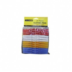 PLASTIC CLOTHES PEGS HEAVY DUTY 24PK