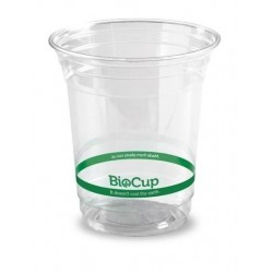 BIOCUP CLEAR PLASTIC CUP 420ML 50S