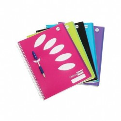 COLOURHIDE A4 5 SUBJECT BOOK 5PK