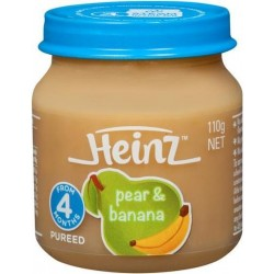 BABY FOOD PEAR BANANA 4 MONTH 110G