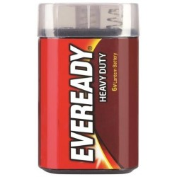 RED HEAVY DUTY LANTERN 6V BATTERY 1EA