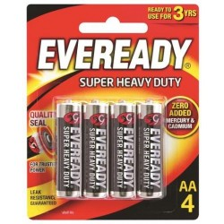 BLACK SUPER HEAVY DUTY AA BATTERY 4PK
