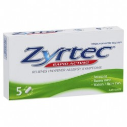 ZYRTEC TABLETS 10MG 5S