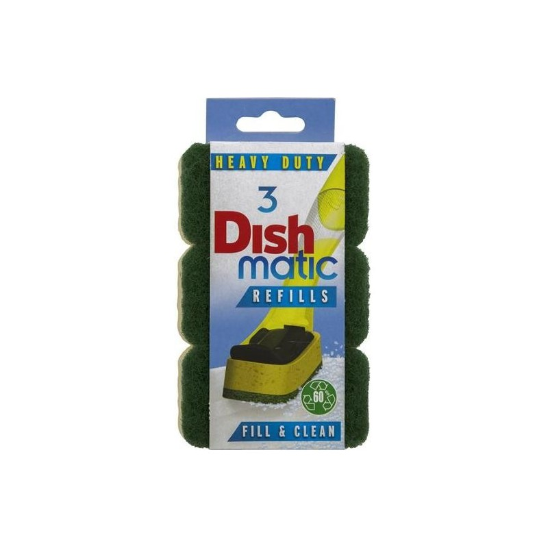 DISH BRUSH REFILL HEAVY DUTY 3PK
