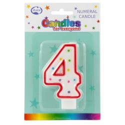 NUMERAL 4 CANDLES 1PK