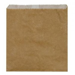 BAG GREASE PROOF 2 SQUARE BROWN 500S