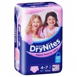 HUGGIES DRYNITE GIRL4-7CONV 10S