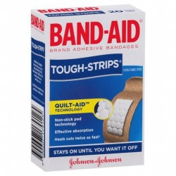 BANDAID TOUGH STRIPS REGULAR 20S