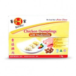 CHICKEN DUMPLINGS WITH MUSHROOMS CATERING PACK 1KG