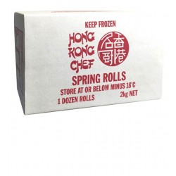 HONG KONG CHEF SPRING ROLLS 12 PACK 2KG