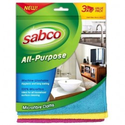 ALL PURPOSE MICROFIBRE CLOTHS 3PK