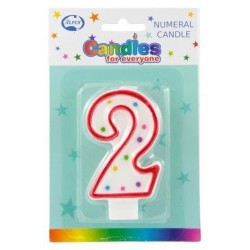 NUMERAL 2 BIRTHDAY CANDLE 1PK