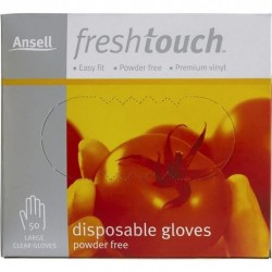 GLOVE FRESH TOUCH POWDER FREE LARGE 50PK
