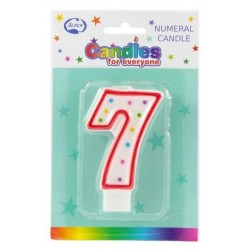 NUMERAL 7 CANDLES 1PK