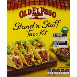 OLD EL PASO STAND'n STUFF TORTILLA TACO KIT 295GM