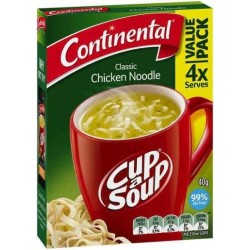CHICKEN NOODLE CUP-A-SOUP 4 SERVES 40GM