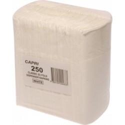 CAPRI NAPKIN DISPENSER WHITE 250S