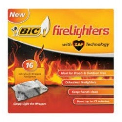 BIC FIRELIGHTERS WRAPPED BOX 16S