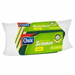 SCOURER HEAVY DUTY FOAM 3PK