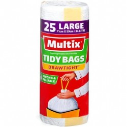 GRIPTIGHT LARGE KITCHEN TIDY BAGS 25S