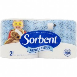 GENTLE TOILET ROLL 2PLY 2PK