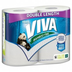 PAPER TOWEL WHITE DOUBLE LENGTH 12 SHEETS 2PK
