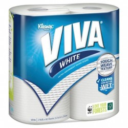 PAPER TOWEL WHITE 6 SHEETS 2PK
